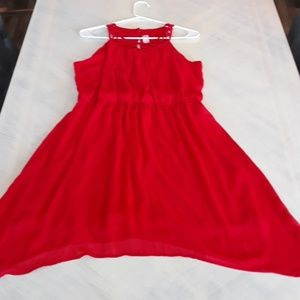 XL red date night dress No Bounderies